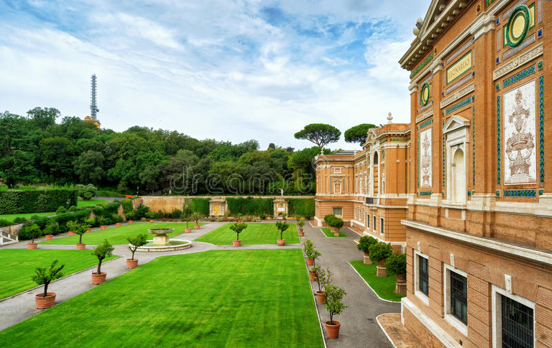 Vatican museum and garden. In summer day. This is the oldest museum in Italy. Rome, Vatican city royalty free stock photos