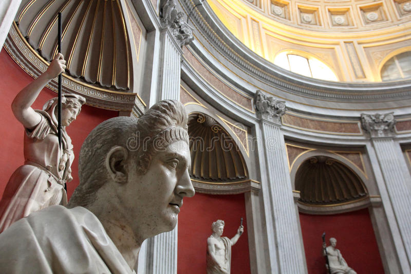 Vatican Museum. The interior of one of the rooms of the Vatican Museum. Italy royalty free stock images