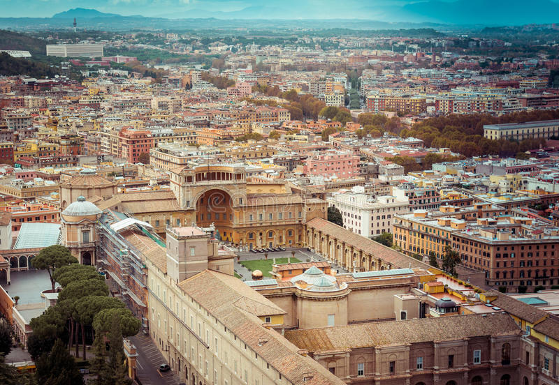 Vatican Museum of Rome. Travel Photography: Cityscape View on the Vatican Museum of Rome. Italy royalty free stock photo