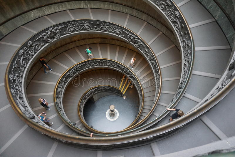 The Vatican Museum stairs. Rome, Italy royalty free stock photos