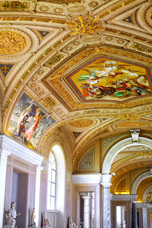 Vatican Museums. Gallerys of Vatican. Italy, Rome stock photos