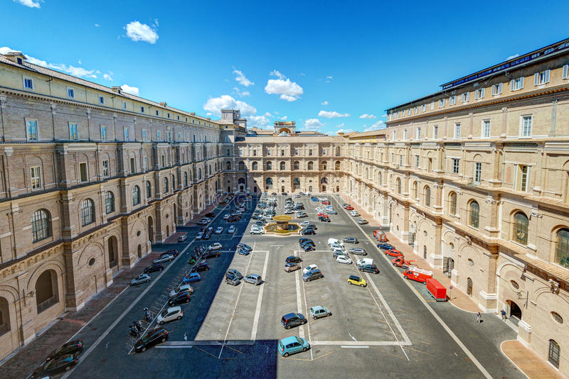 Vatican Museums, one of the courtyards royalty free stock photo