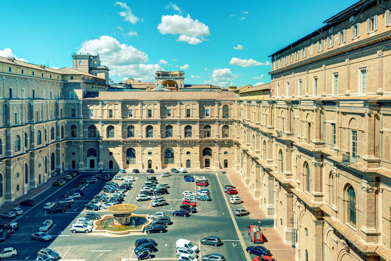 Vatican Museums, one of the courtyards royalty free stock photography