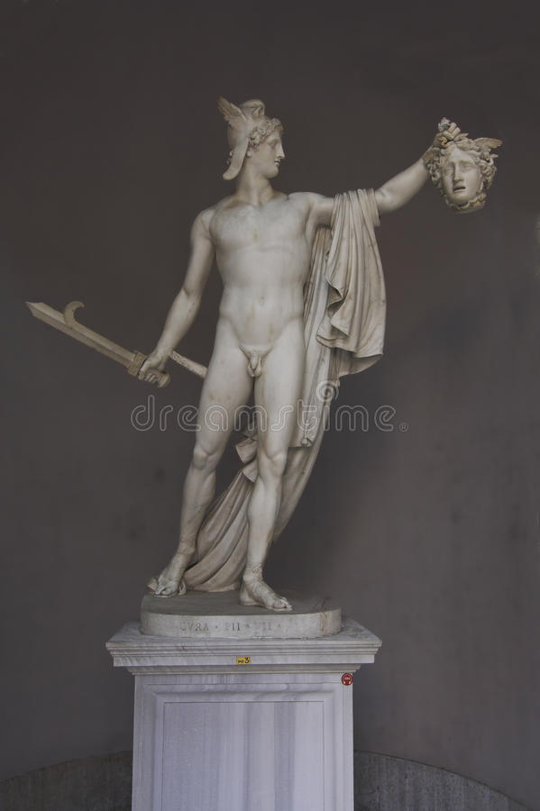 Vatican museums - perseus royalty free stock images
