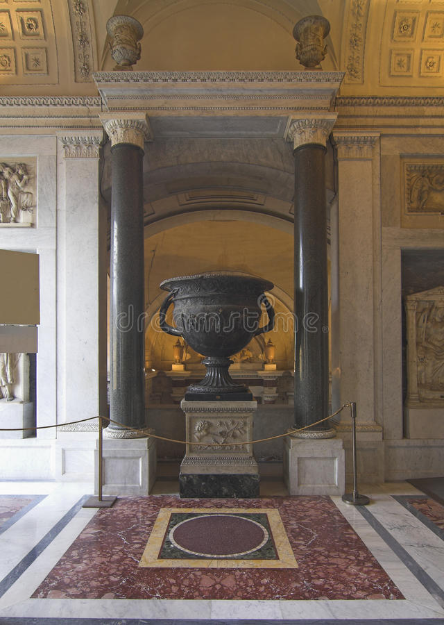 Vatican museums - vase royalty free stock photo