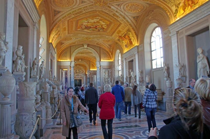 Vatican-Museumsgalerie lizenzfreie stockbilder