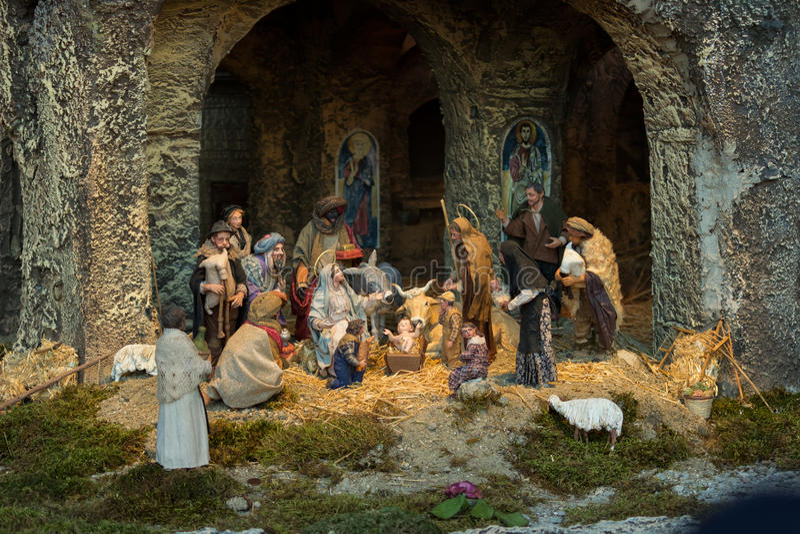 Vatican nativity royaltyfri bild