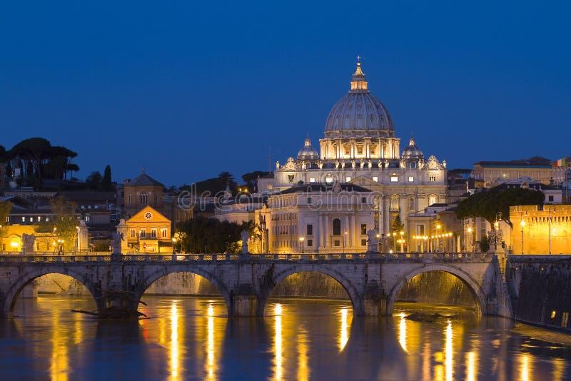 Vatican by night stock photo
