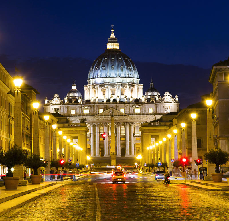 Vatican at Night royalty free stock photography