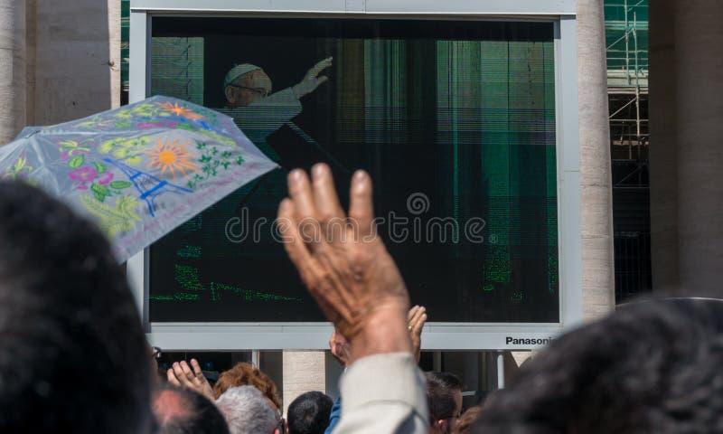 Vatican Pope Francis Pilgrims royalty free stock photo