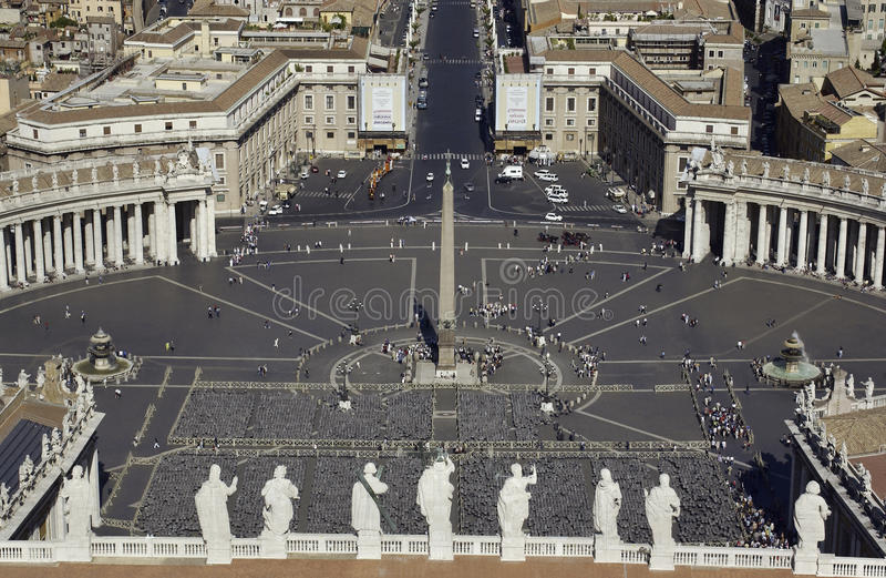Vatican - quadrado do St. Peters - Roma - Italy fotografia de stock royalty free