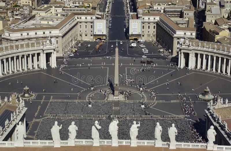 Vatican - quadrato della st Peters - Roma - l'Italia fotografia stock libera da diritti