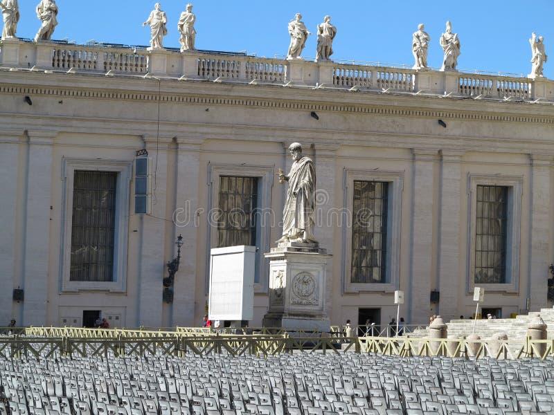 19 06 2017, Vatican, Roma, Italie : Place du ` s de St Peter de vue images libres de droits