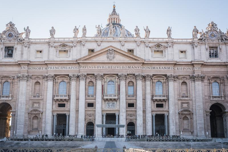 VATICAN, ROME, ITALY - NOVEMBER 17, 2017: Main entrance on the Vatican Square stock photo