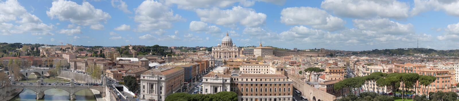 Vatican and Rome Panorama stock image