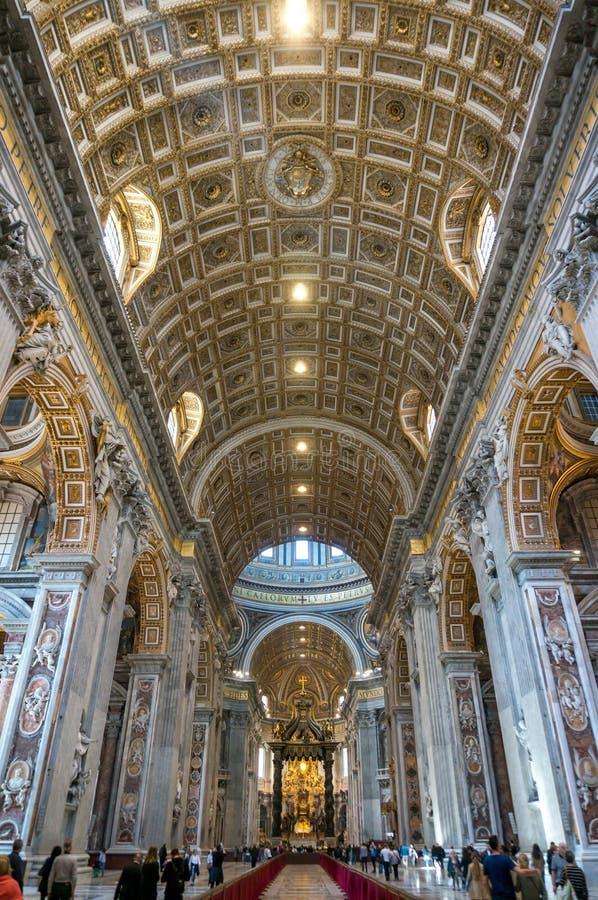 Vatican Saint Peter Basilica Inside royalty free stock images