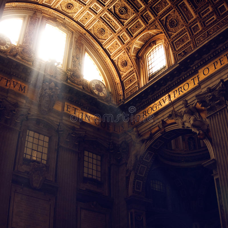Vatican. St. Peter's Cathedral interior. royalty free stock image