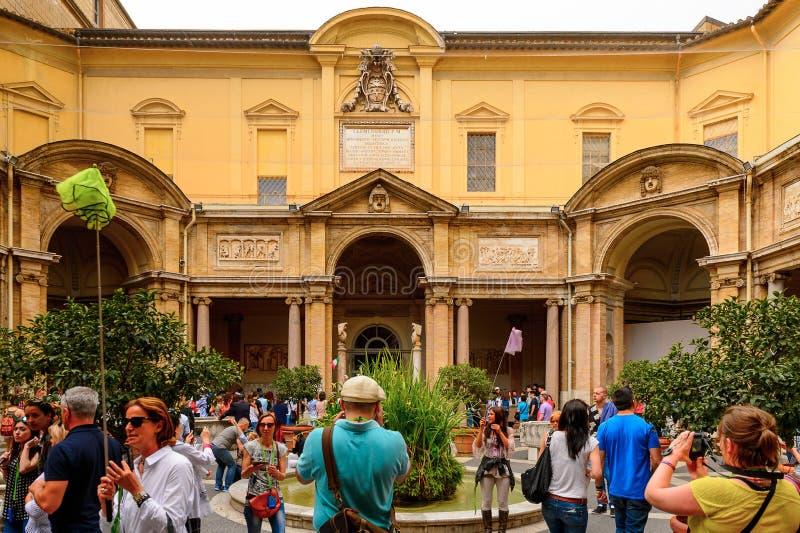 The Vatican Museum. VATICAN, VATICAN CITY - MAY 7, 2016: Vatican Museum. It was established in 1506 stock photos
