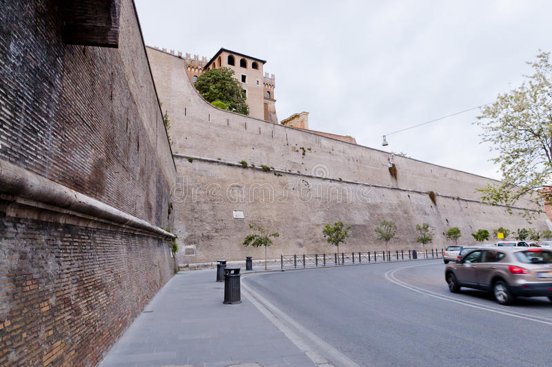 Vatican walls. Walls around Vatican City in Rome, Italy royalty free stock photography