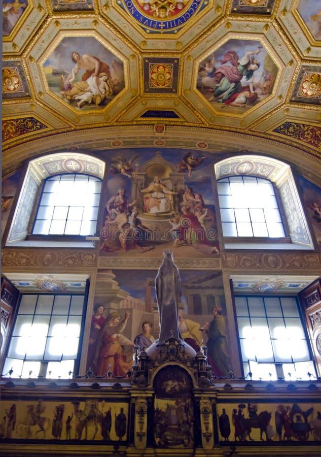 Vaticanen rum av den obefläckade befruktningen arkivfoto