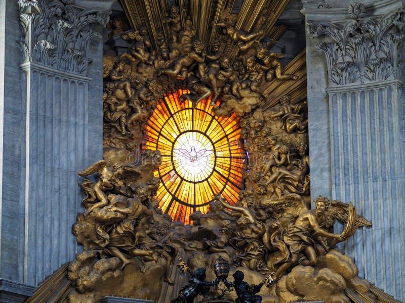 Vaticanenfönster royaltyfria bilder