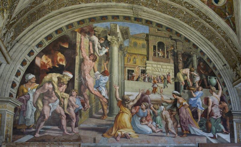 Vaticanenfrescoes italy royaltyfria foton