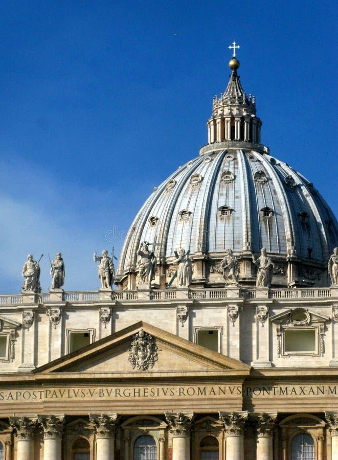 Vaticanenkupol royaltyfria bilder