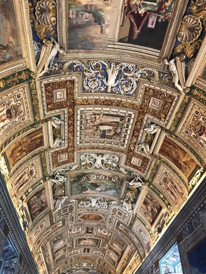 Vaticanenmuseer - Rome royaltyfria bilder