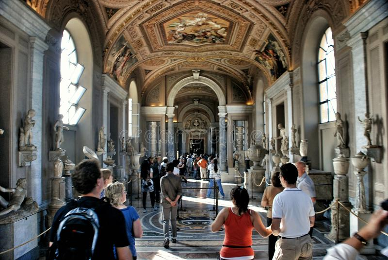 Vaticanenmuseumtak royaltyfri foto