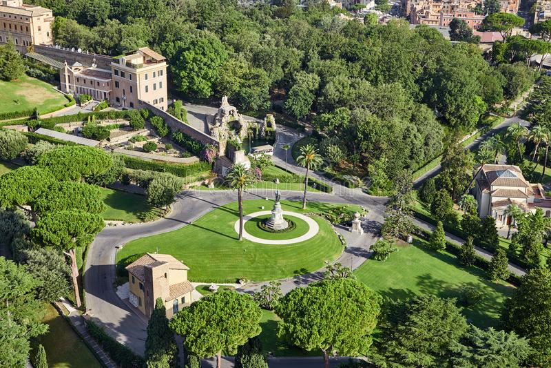 Vaticanenområde från över royaltyfri foto