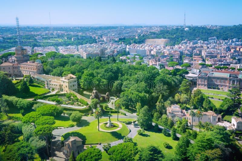 Vaticanenträdgårdar arkivfoton