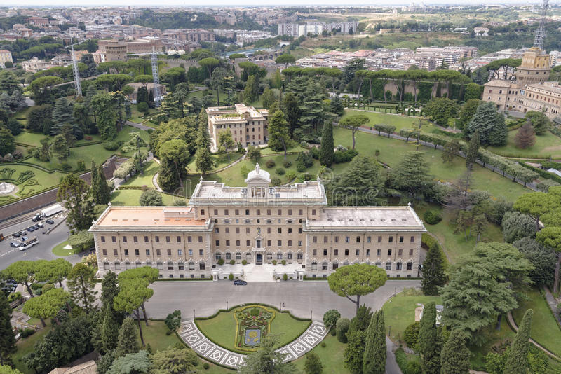 Vaticanenträdgårdar arkivbilder