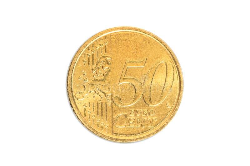Vaticano 50 euro- centavos fotografia de stock royalty free
