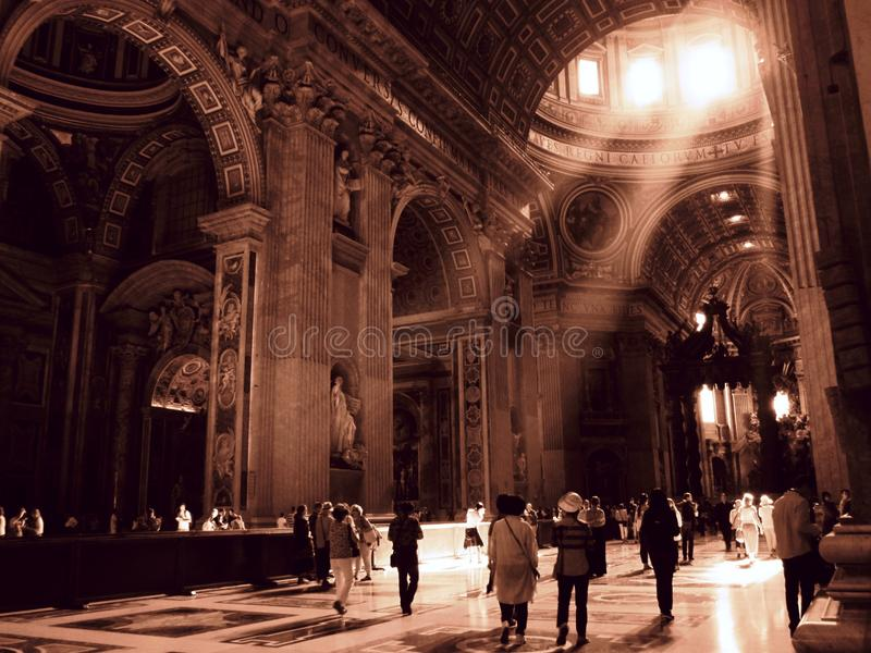 Vaticano interno foto de stock