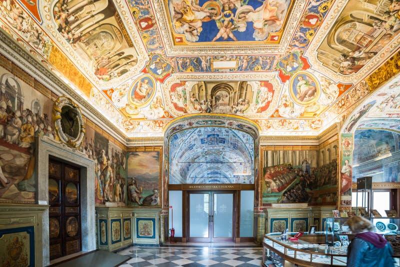 Vatikan-Bibliothek lizenzfreies stockfoto