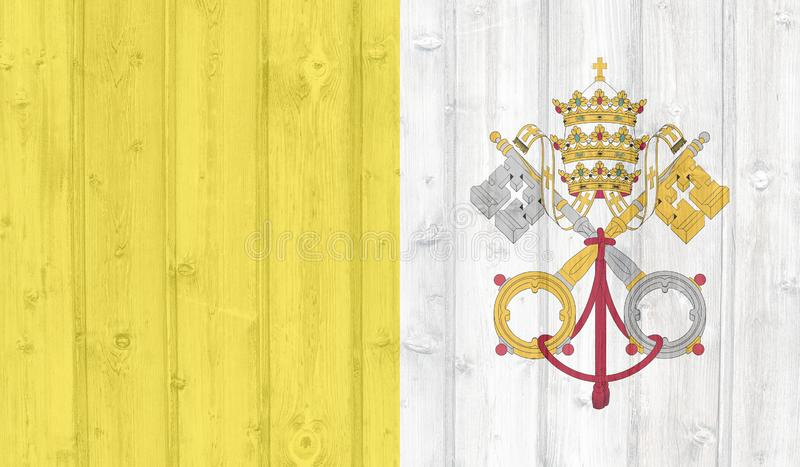 Vatikan-Flagge stock abbildung