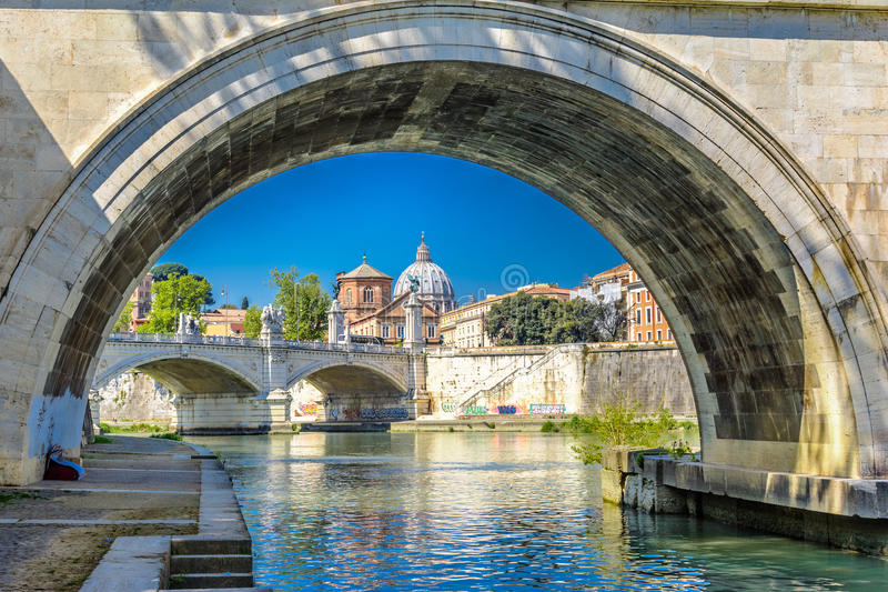 Vatikan-Markstein, Rom, Italien stockbild