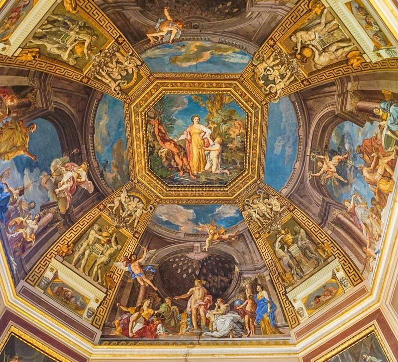 VATIKANSTADT, ITALIEN: AM 11. OKTOBER 2017: Malereien auf dem ceilin stockfotografie