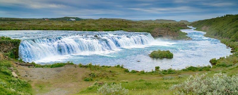 Vatnsleysufoss Faxi vattenfall fotografering för bildbyråer