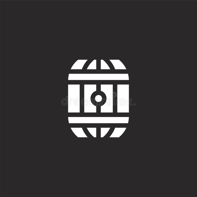 Vatpictogram Gevuld vatpictogram voor websiteontwerp en mobiel, app ontwikkeling vatpictogram van de gevulde geïsoleerde inzameli vector illustratie
