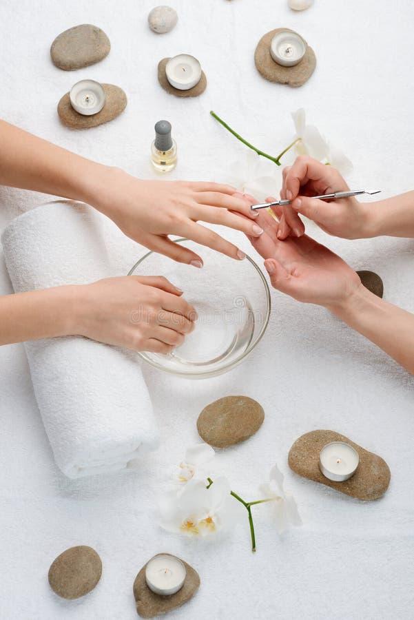 Vatten - bad för nagelband arkivfoton