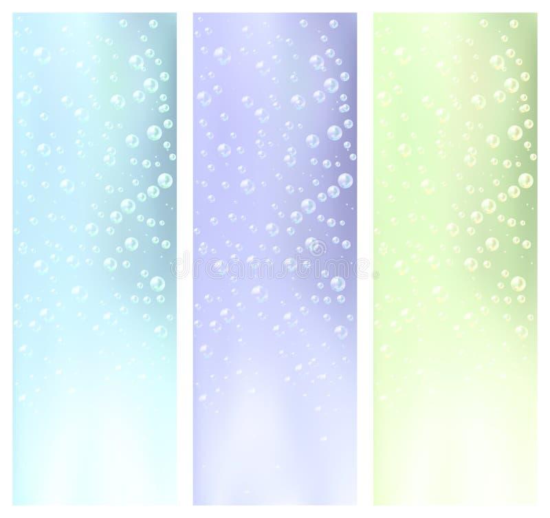 Vatten bubblar baner royaltyfria bilder