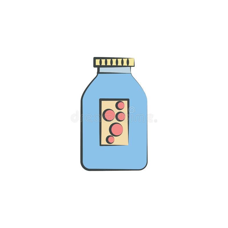 Vatten färgad hand dragen symbol Beståndsdel av höstsymbolen för mobila begrepps- och rengöringsdukapps Handen dragit färgat vatt stock illustrationer