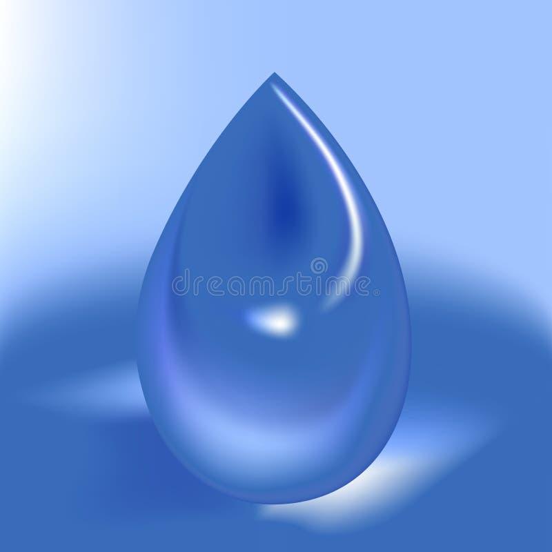 vatten för 01 droppe royaltyfri illustrationer