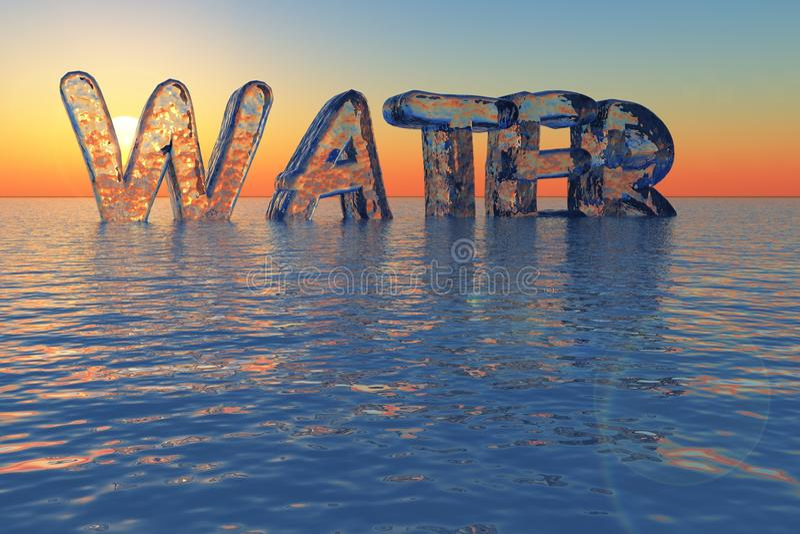 vatten för 2 upplagor stock illustrationer