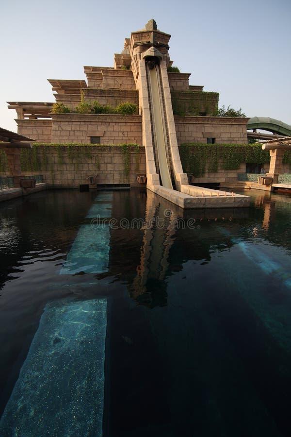 vatten för aquaventuredubai park royaltyfria bilder