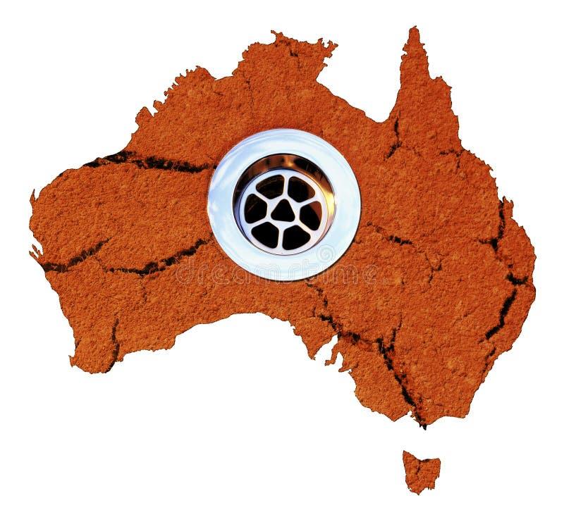 vatten för Australien draintorka royaltyfri fotografi
