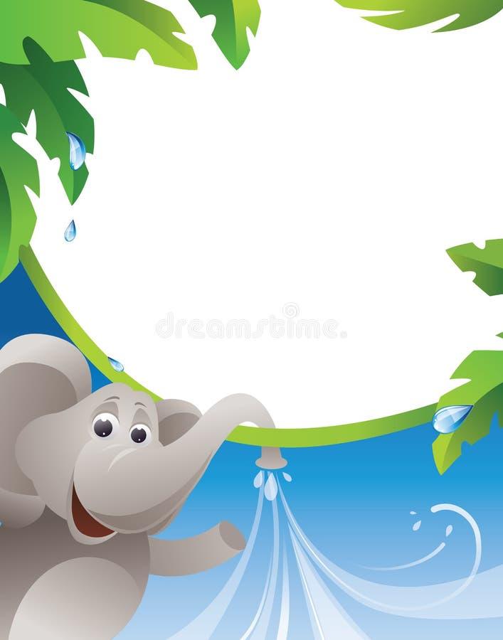 vatten för elefantramström vektor illustrationer