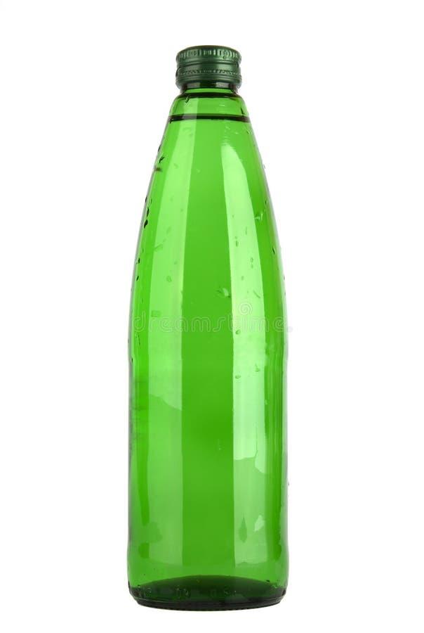 vatten för green för flaskexponeringsglas arkivbild
