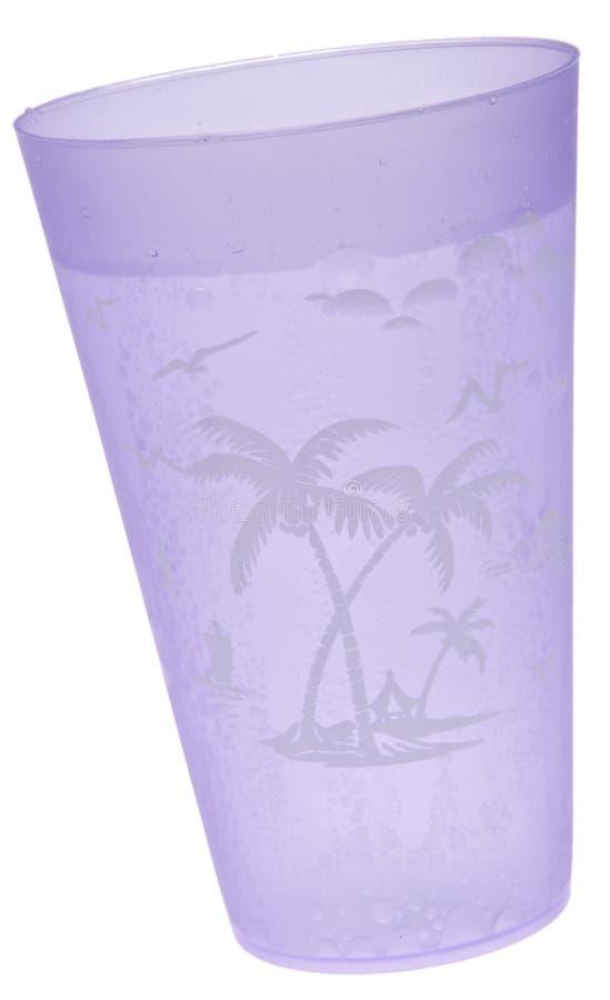 vatten för purpur seltzer för kopp tropiskt royaltyfri fotografi